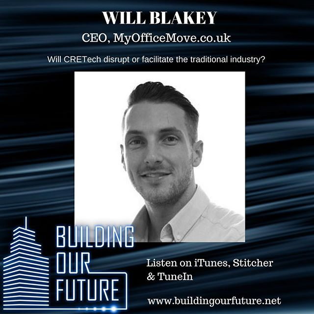 Will Blakey discusses the impact of #cretech and #proptech on the traditional office agency model, while giving us some insight on what it's like to be a start-up in the property world #propertypodcast #proptechpodcast #wellness #cre #rics