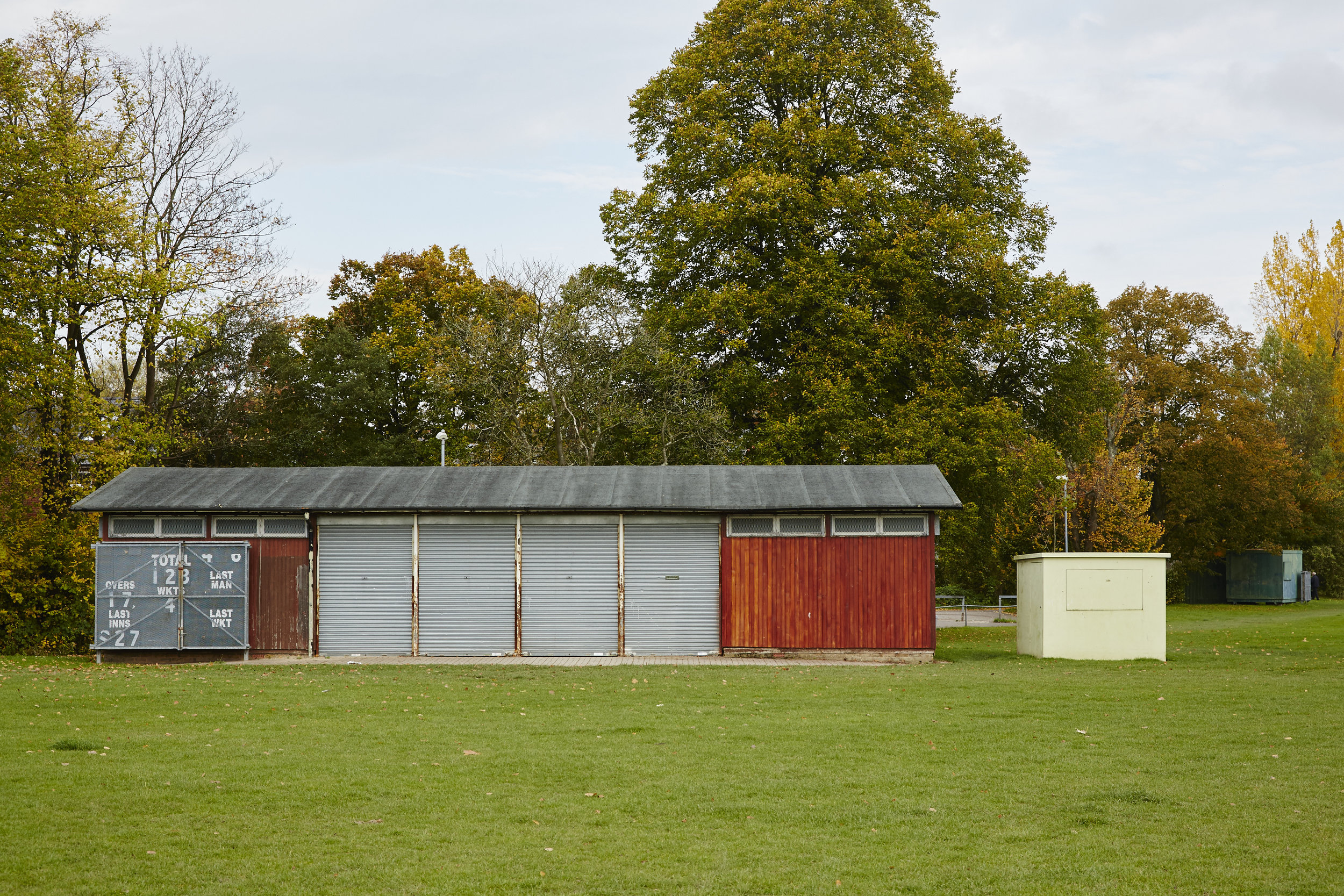 Existing pavilion and scoring huts