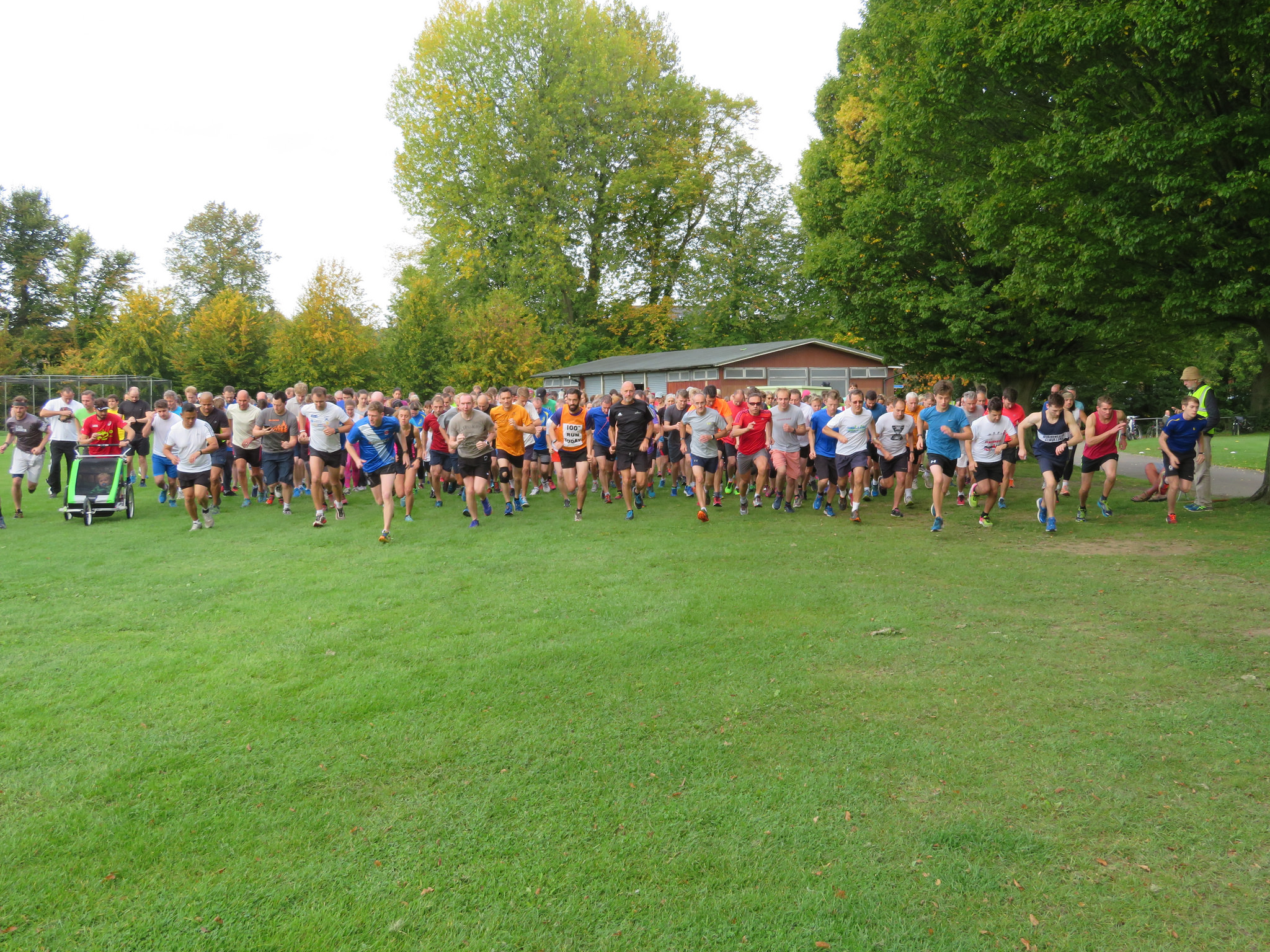 Park runners run from The Pavilion every saturday