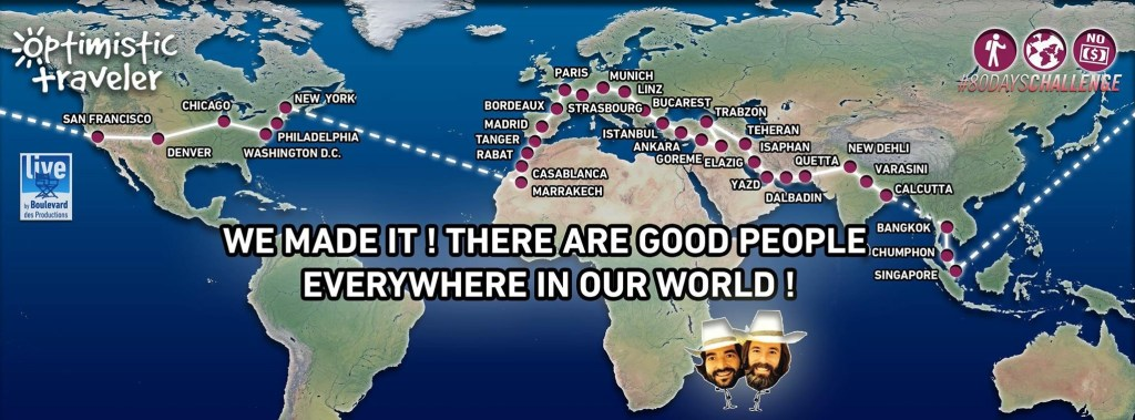 Around the world in 80 days without money