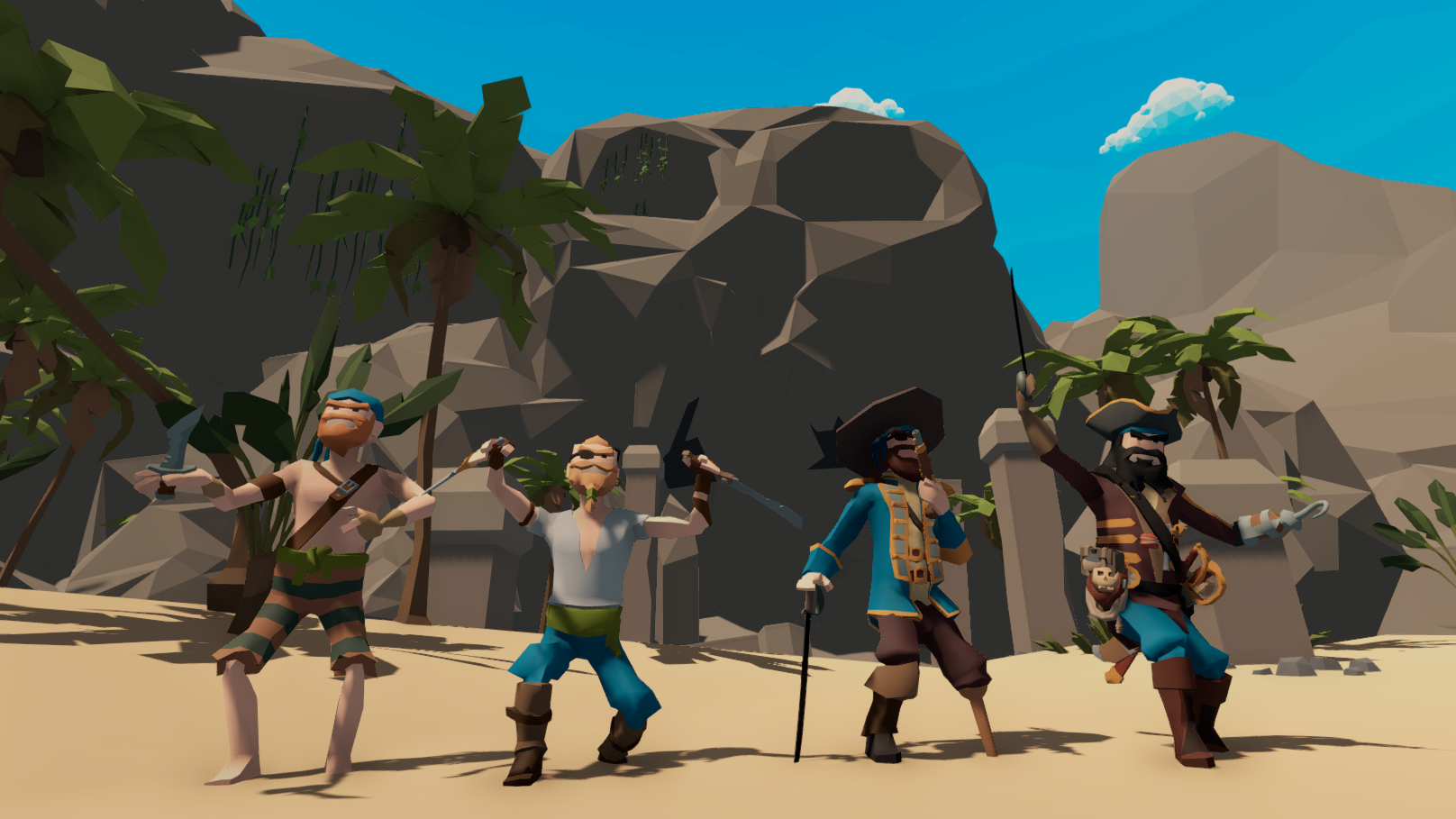 Gather your crew - Before you start pillaging and plundering, round up a crew with a size of your liking. Invite your friends or join open games and enjoy online battles!