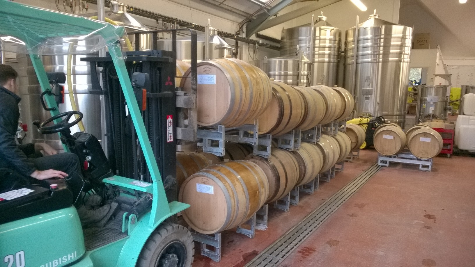 5. Racking the Juice - After 24 hours the juice is racked off the grape solids and transferred to a fermentation tank or barrel.