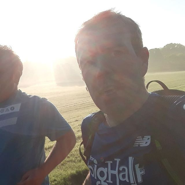 Its my birthday. Started it with a 6am client session, early enough to see mist and yet in half an hour it brightened up to scorchio. #howdidyoustartyourday  #parkrun #jigsawpersonaltraining #jigsawmakesallshapesfit #jigsawrunningcoaching #runningcoaching #runinthesun #runnersofinstagram #running #barnet #enfield #runlondon #irun #runnowcakelater #birthday #veteranrunner #fitness #outdoorandactive #trainoutdoors #outdoorfitness
