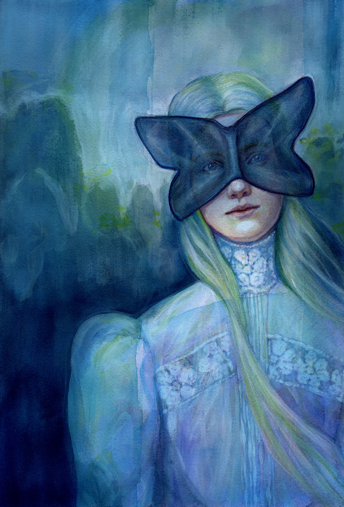 "Miranda - Watercolour - 11.69 x 16.55'"" - $495"