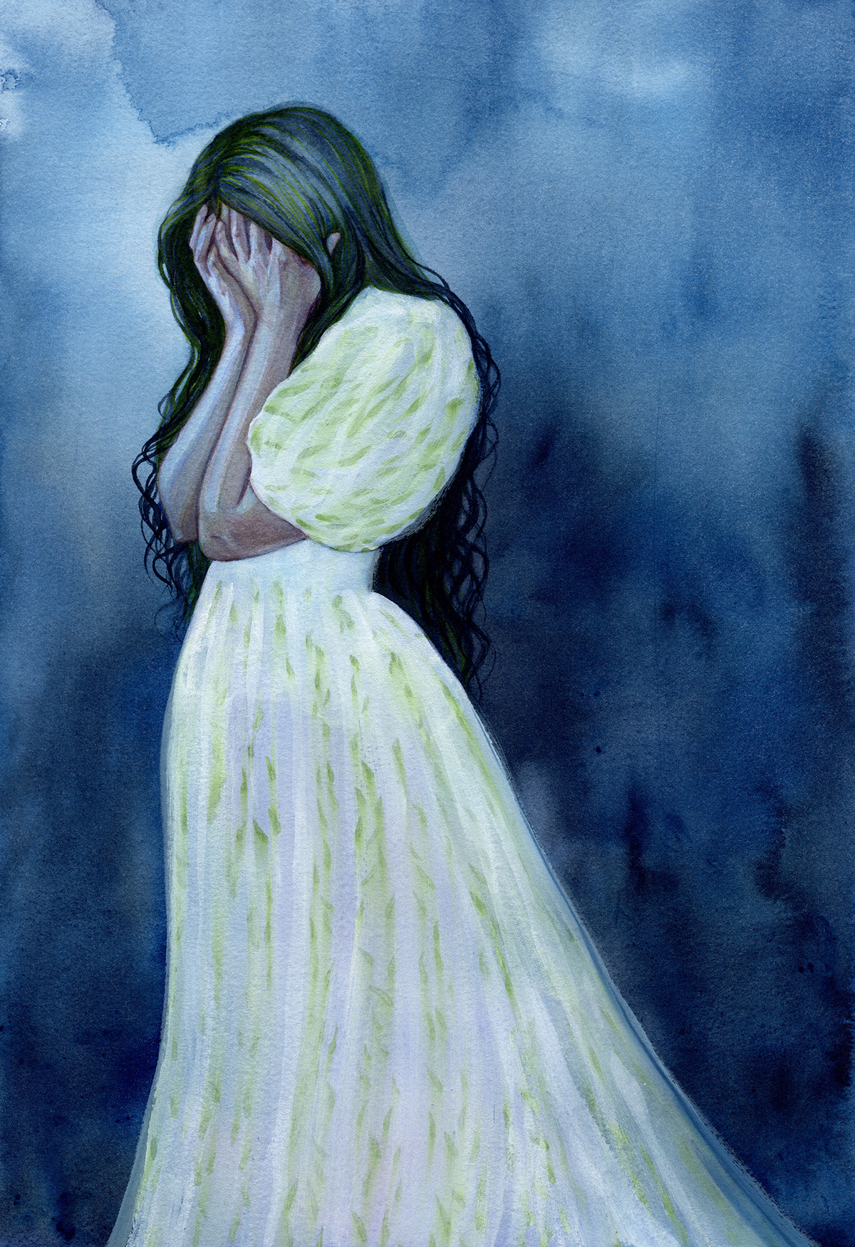 """Weeping Willow - Watercolour - 11.69 x 16.55'"""" - $495"""