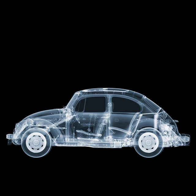 The VW Beetle might be retiring but it's not for me! Swipe to see a close up of the detail of the 1971 classic.  _______________________________________  #nickveaseyxray #xray #xrayart #contemporaryart #artoftheday #VW #Beetle #Volkswagen #artuk #modernart #instaart #art #artist #artcollector #photographycollector
