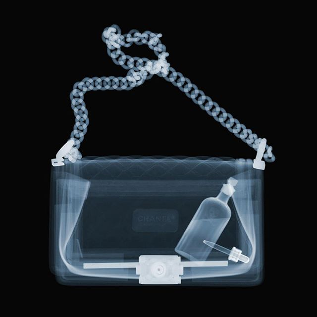 Poison In My Purse. Part of my new series of X-ray murderers. Remember - it is what is on the inside that counts.  For more details dm me or @processgallery  #nickveaseyxray  #insideout  #xrayart #contemporaryart  #processgallery