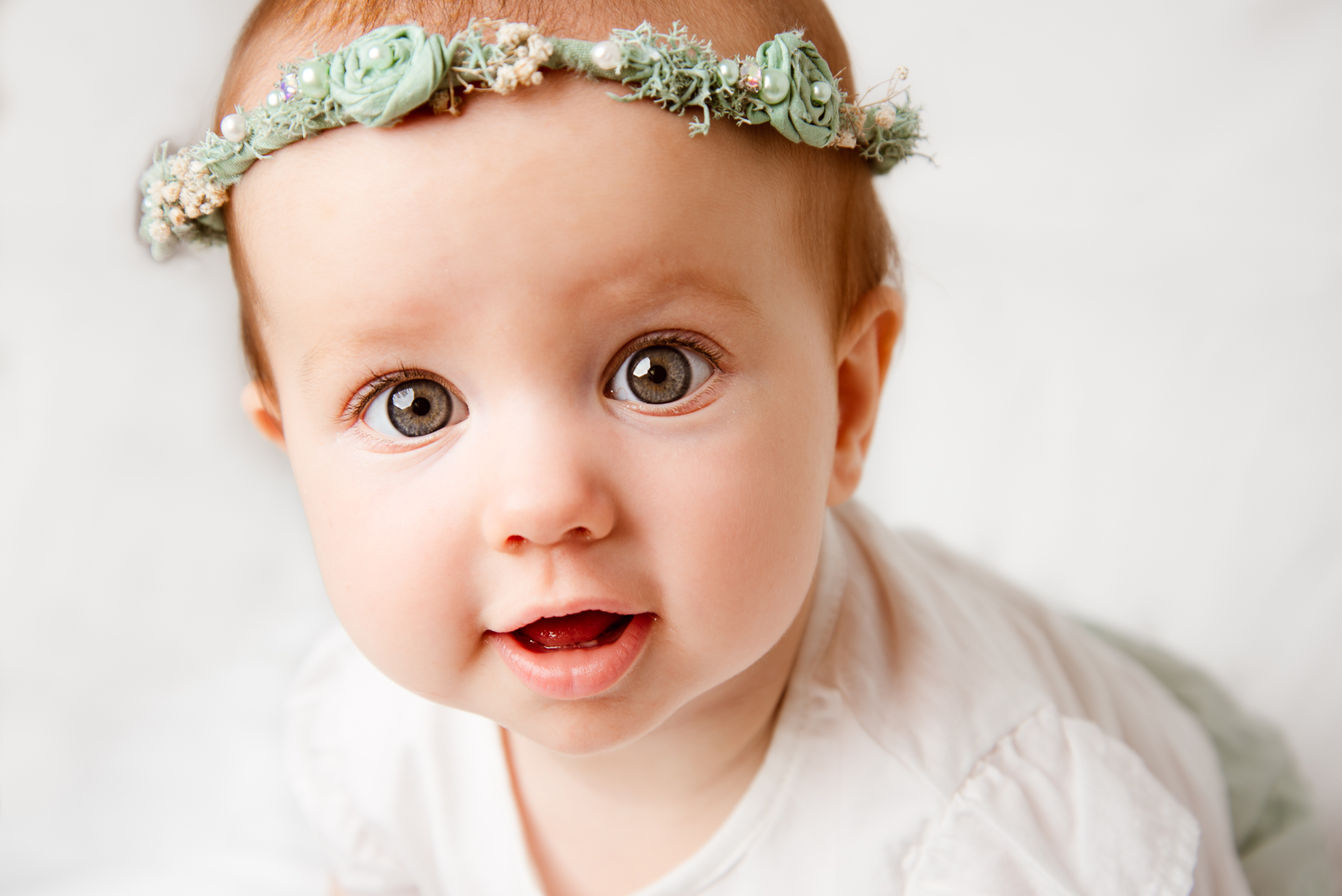 Baby Girl with floral headband