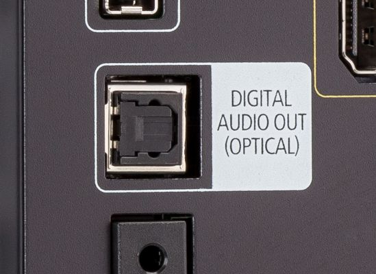 - The picture show the Optical output plug of Your TV.