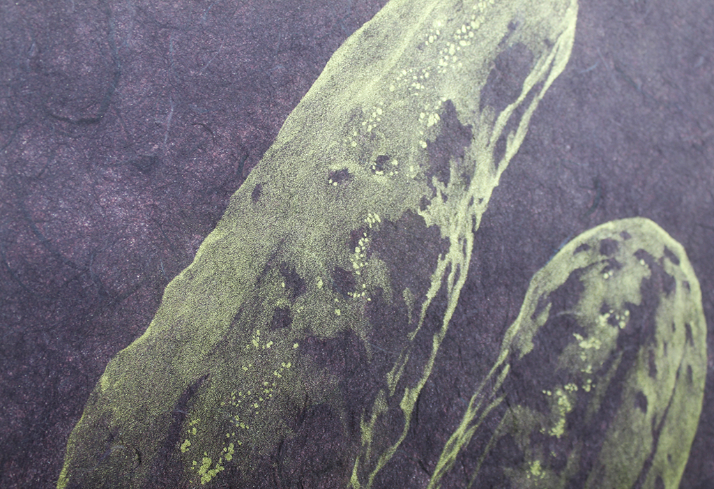 Detail, Duet in Aubergine and Gold