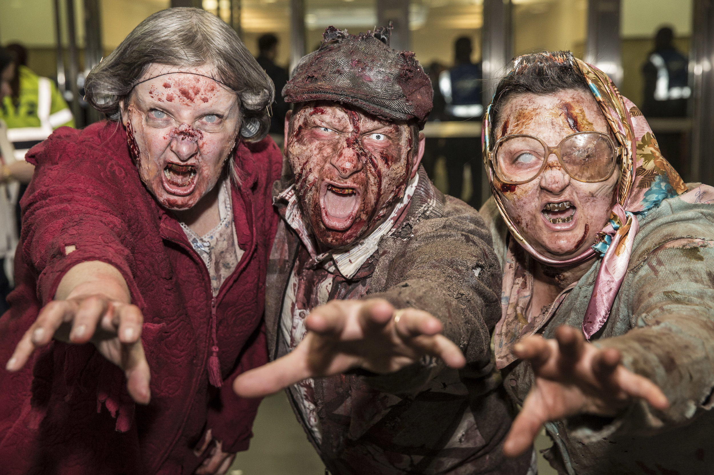 The Zombie hoard invades the London Olympia ( Z Walkers )