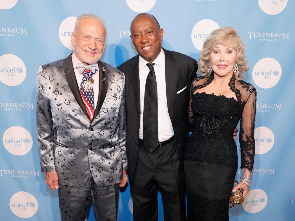 Buzz Aldrin, Sylvester Turner, Joanne King Herring.