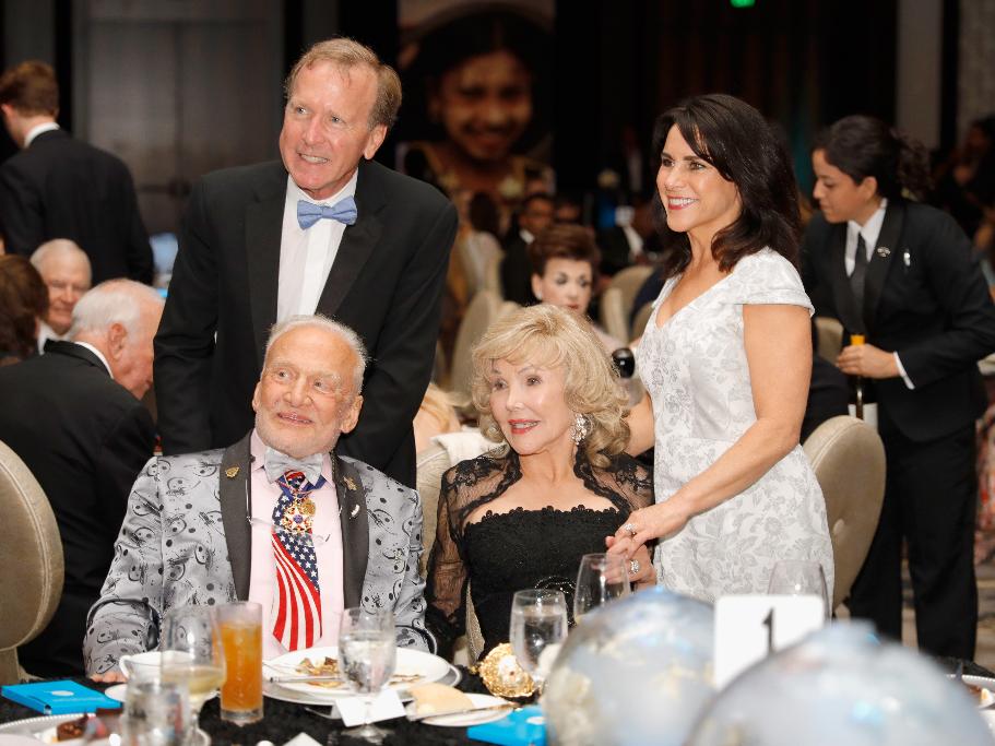 Neil Bush, Buss Aldrin, Joanne King Herring, Maria Bush.