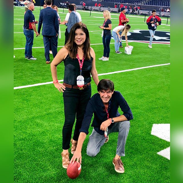 Had a ball last night! 🏈 Thanks, @houstontexans!  #wearetexans #houstontexans #thesuitelife #texansgameday