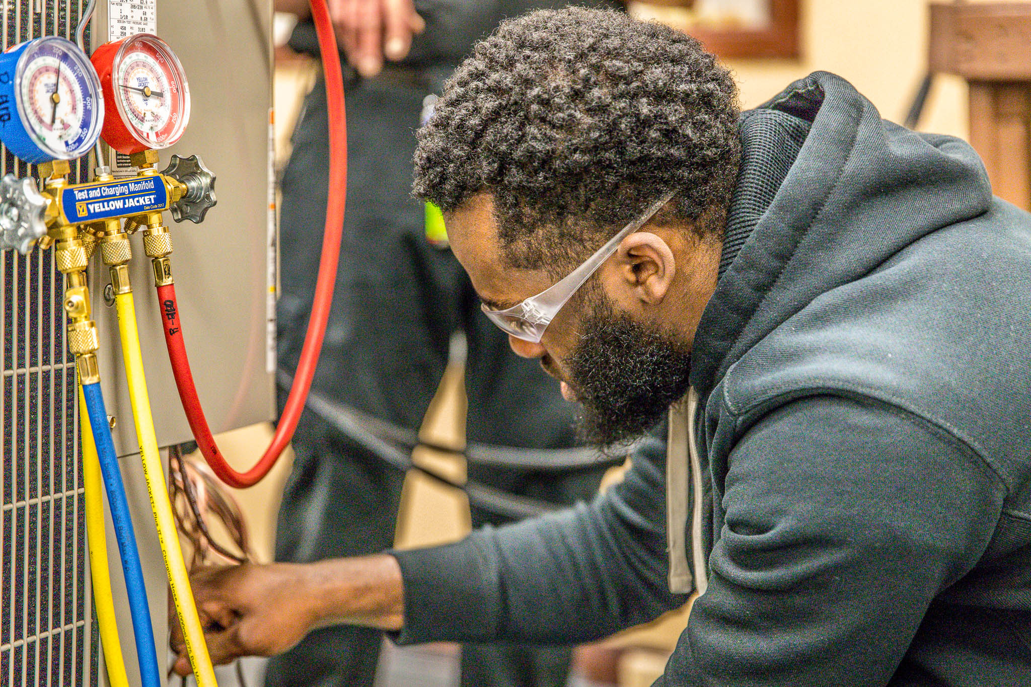 HEATING, RERIGERATION, VENTILATION, & AIR CONDITIONING TECHNOLOGY - This program is designed to provide graduates with the entry-level skills to install and repair as needed: Heating, air conditioning and residential refrigeration equipment. The program covers in practice and theory the HRVAC electrical requirements, diagnosing, repairing and installing HRVAC equipment systems, ductwork, metal fabricating and installation. Understanding of HRVAC parts and accessories