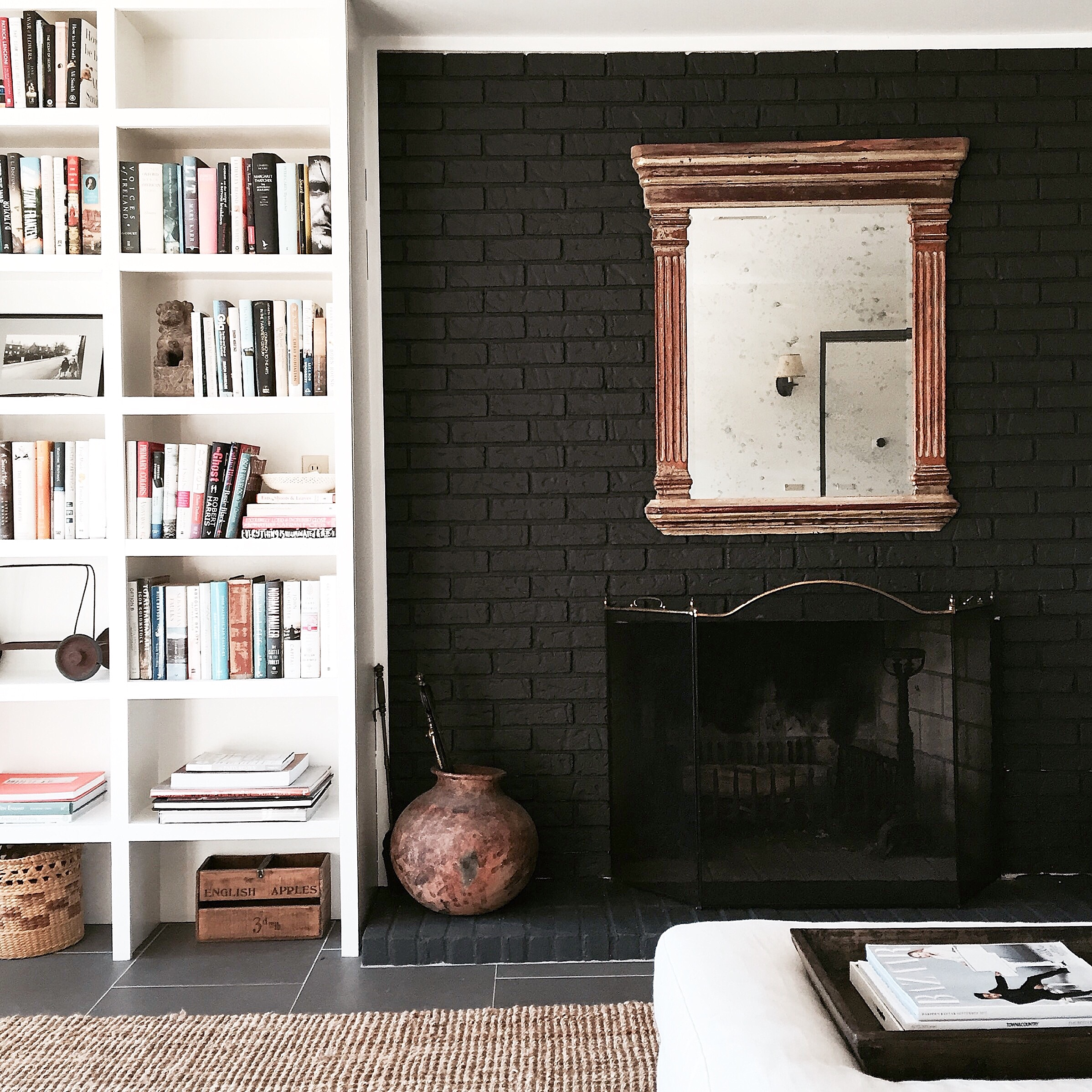 Alison Kist Interiors Modern Farmhouse fireplace detail.jpg
