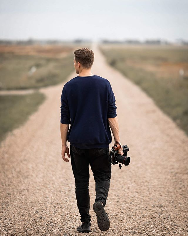Gravel roads and loads of codes. Whatever that means.  But all I know is @styledbymadsen can give great cuts and @wyattheiberg can shoot and edit great pics.