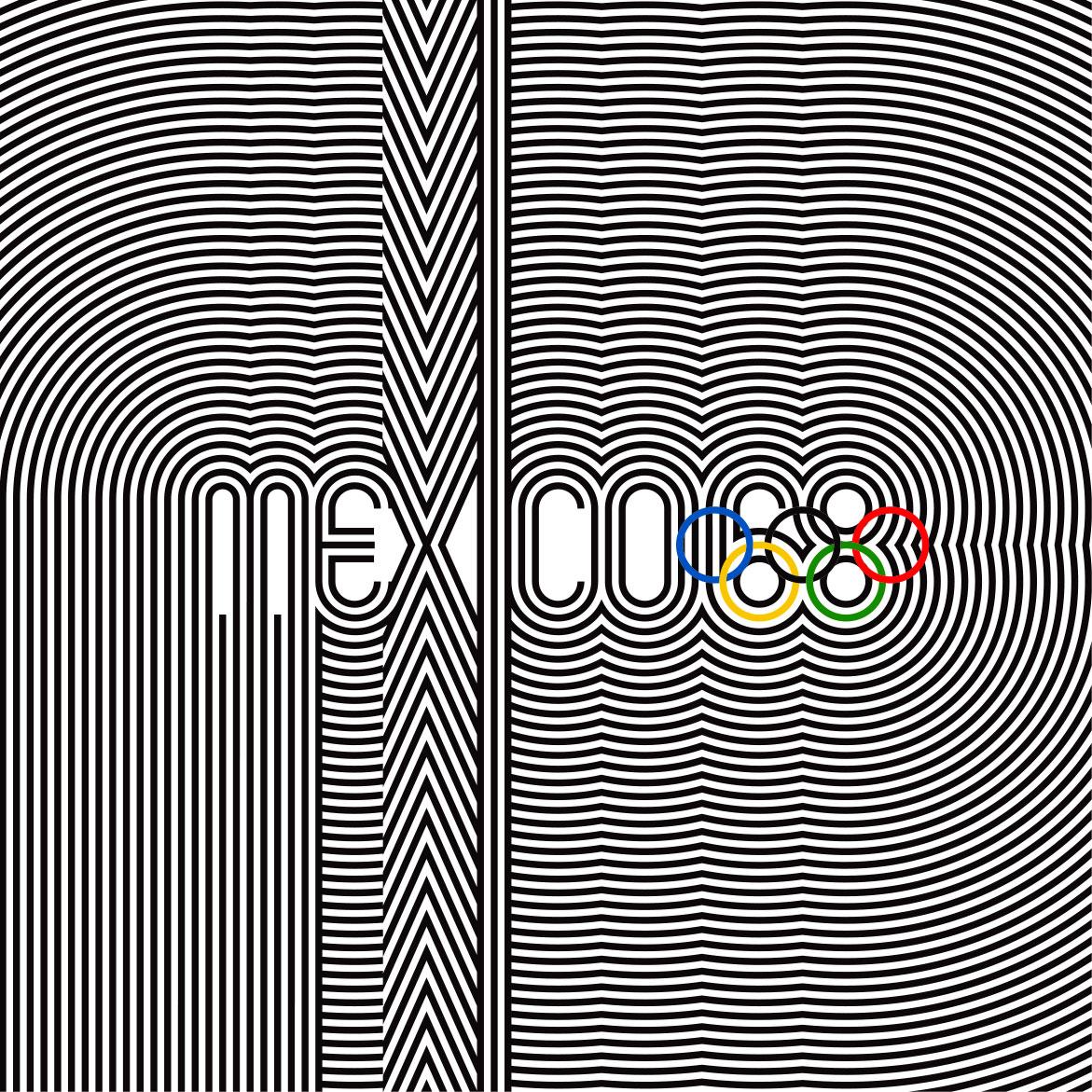 Mexico 68 Olympics branding by Lance Wyman