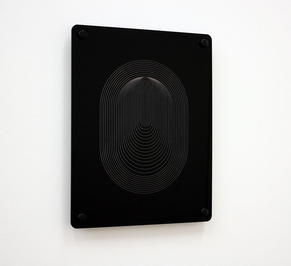 Signal , laser-engraved acrylic