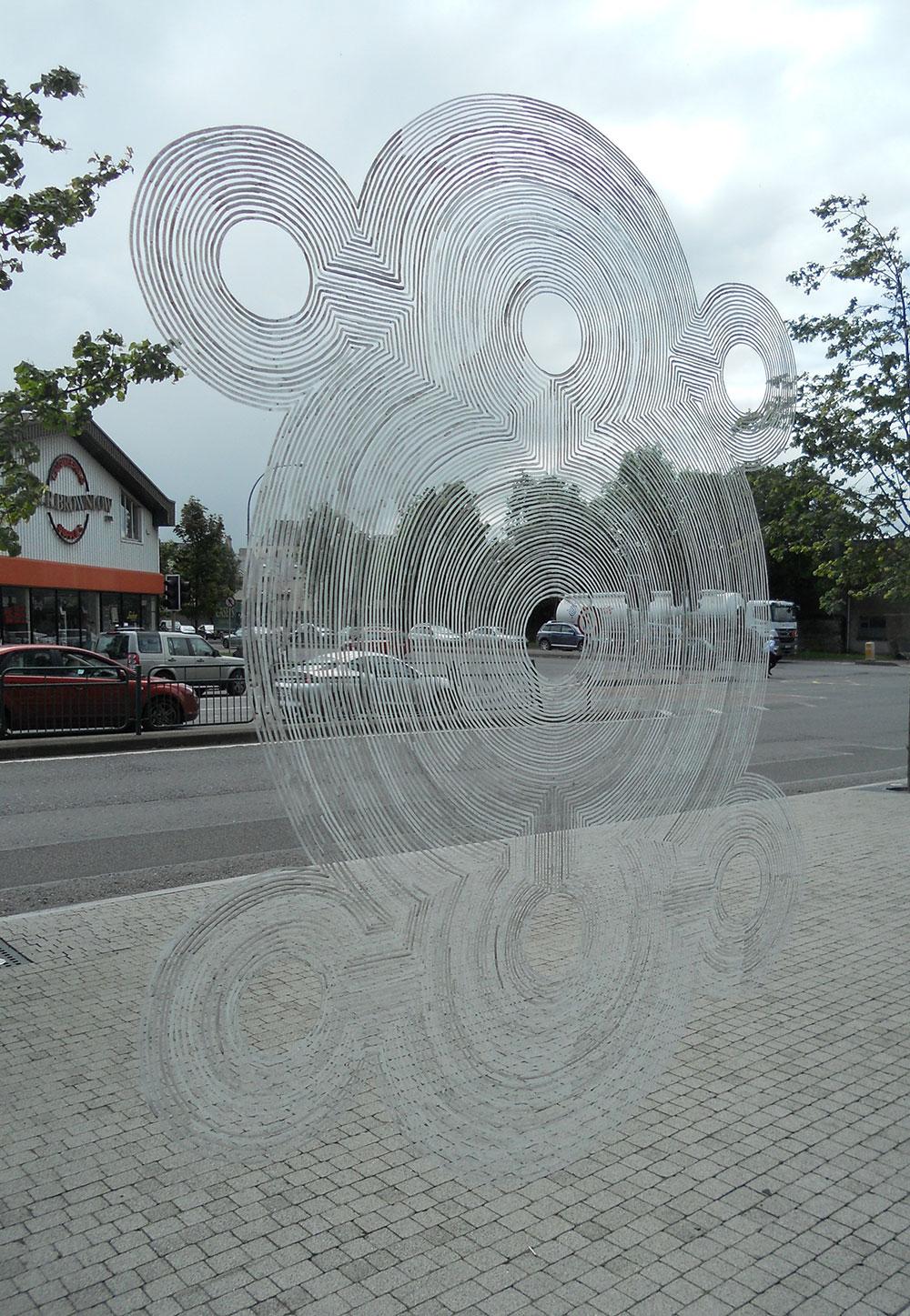 Ink on window, Solstice Festival, Cork