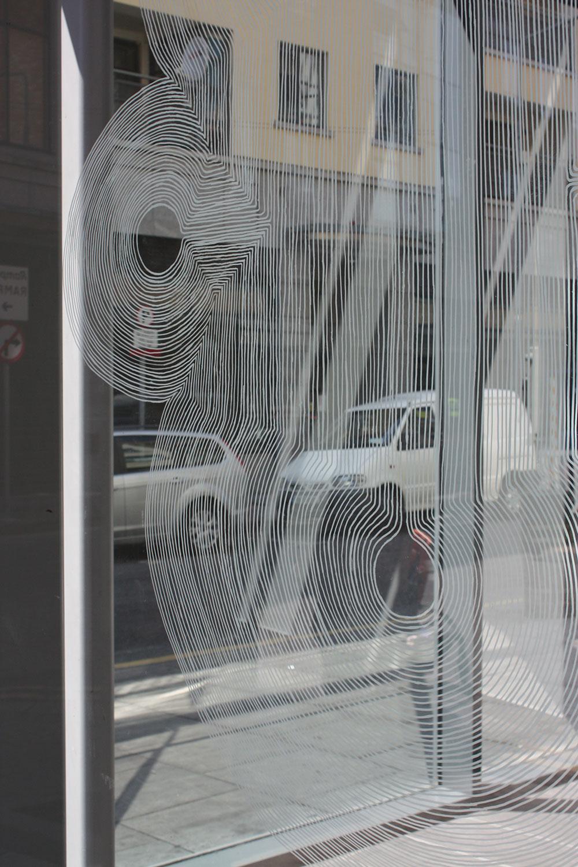 Ink on window, The Lab, Dublin