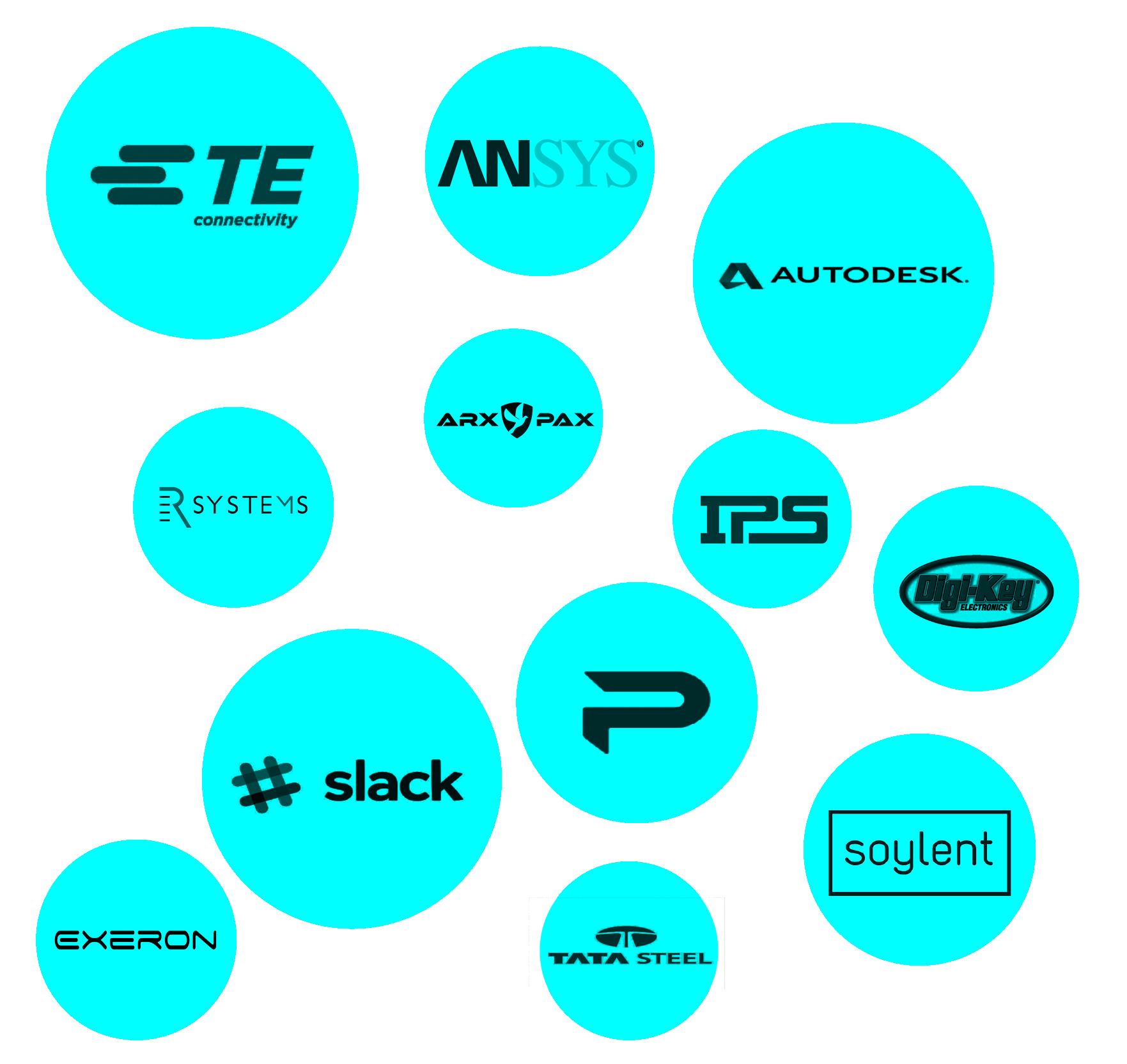 slack arx pax autodesk tata steel TE connectivity partners sponsors hyperloop