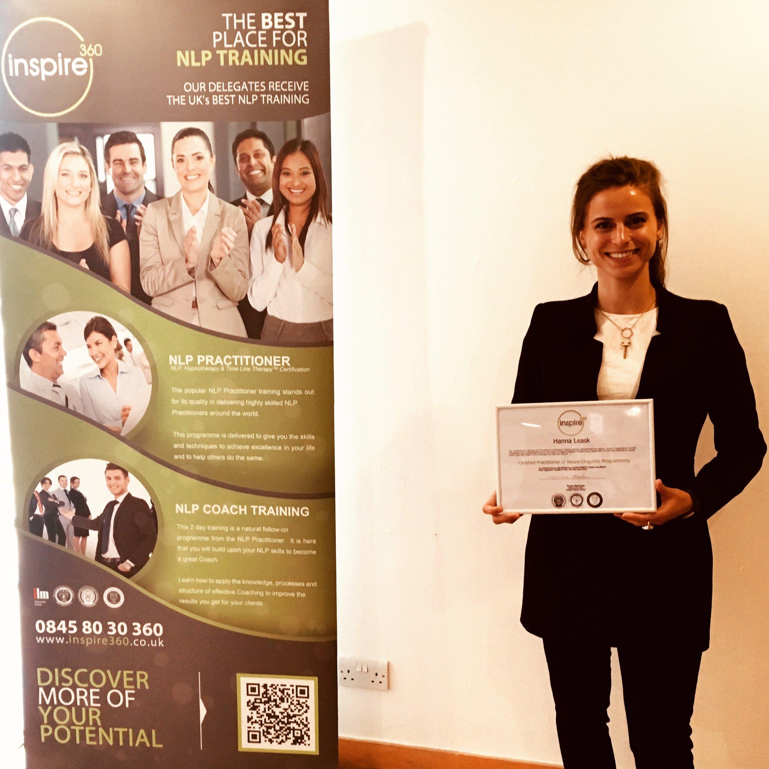 Hanna Leask NLP Certified