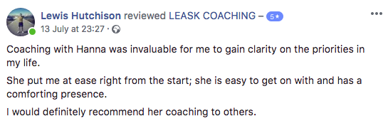 Leask Coaching Review for Hanna Leask