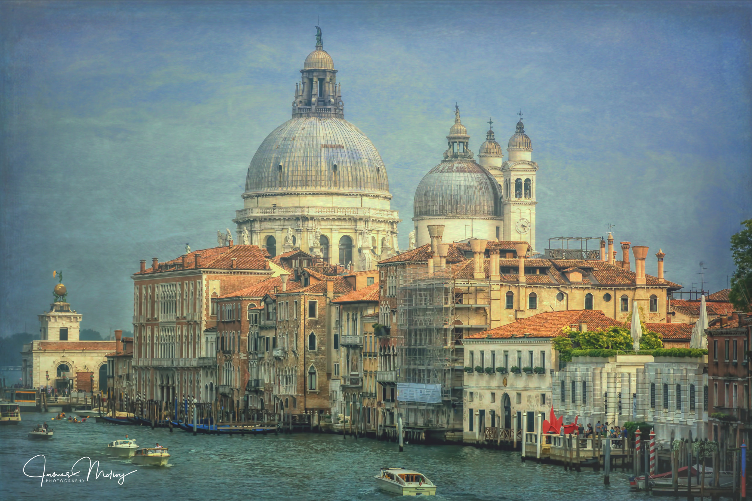 Santa Maria della Salute - Nikon D7100, 1/250 @ f/11, ISO 200, 85mm - An average photograph until I added a texture layer. This photo has been shown in a local gallery.