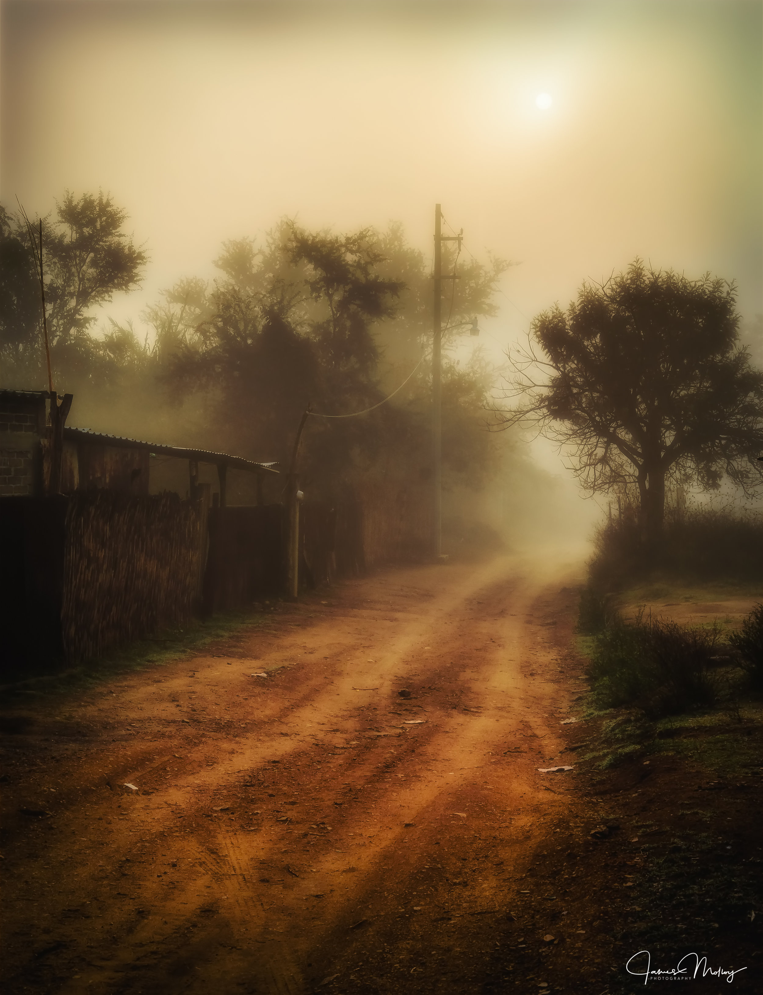 Calle Benito Juarez - Nikon D7000, 1/200 @ f/11, ISO 100, 34mm - A small village in Oaxaca, Mexico soon after sunrise. The mist blanketed the dirt streets, further diffusing the soft light. I have shown this image in a local gallery to positive feedback.