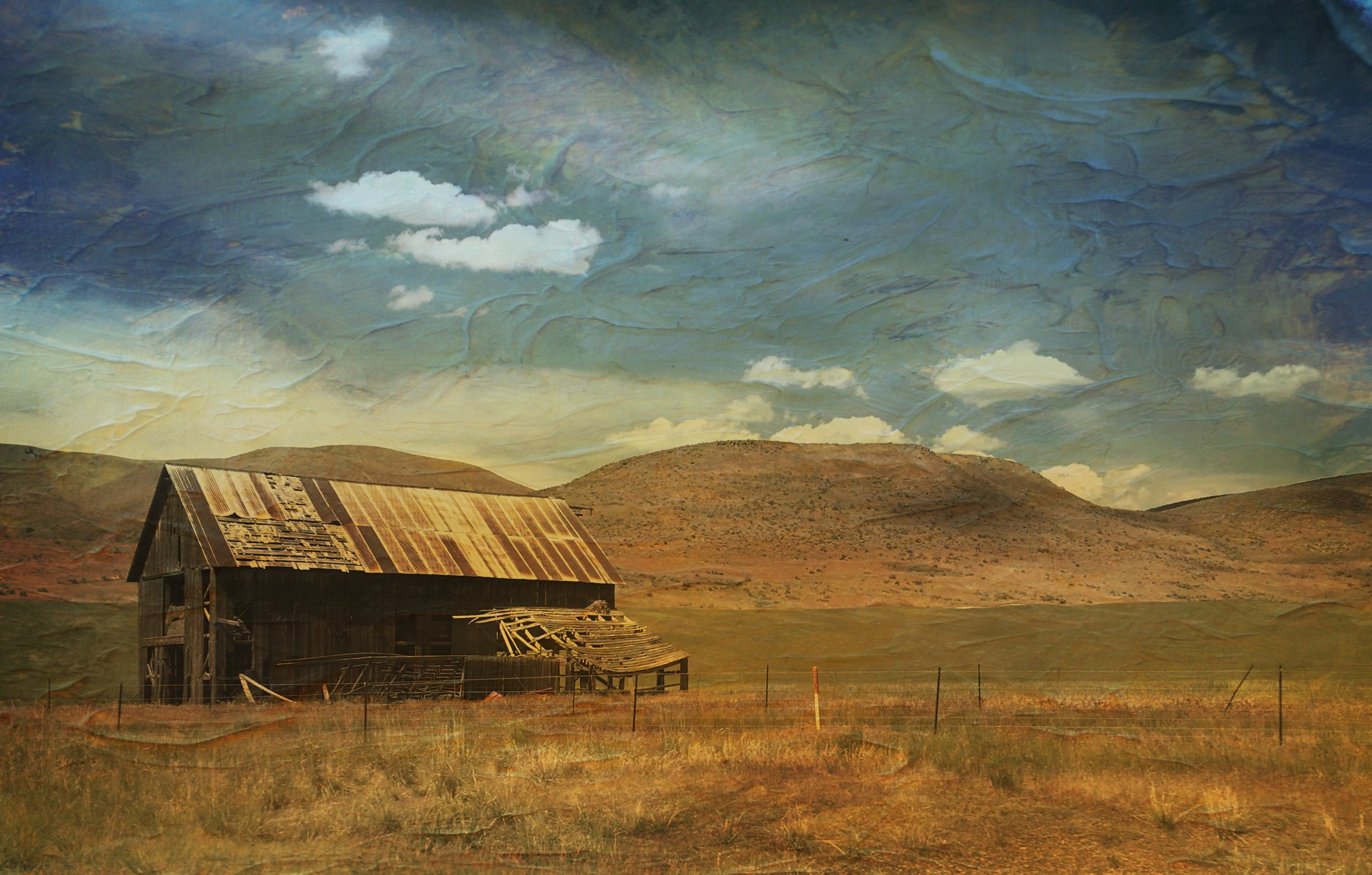 Out West - IPhone photo, processed with DistressedFX