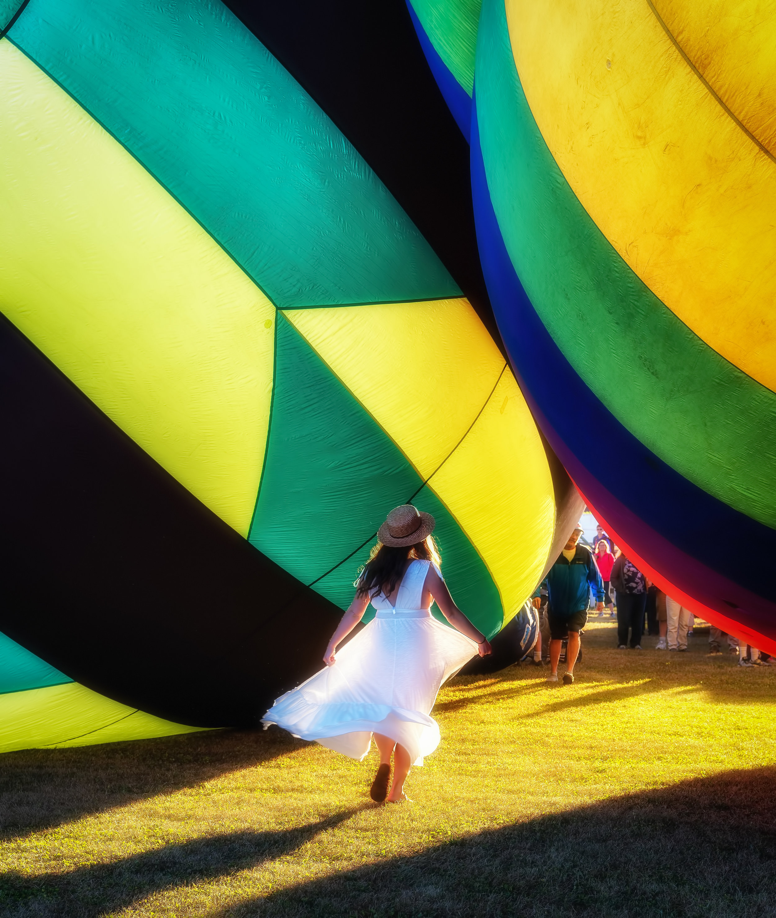 Dancing with Balloons - Hudson Valley Balloon Festival, Summer 2018 - Nikon D750, 1/125 @ f/7.1, ISO200, 70mm - See my poem of the same title in the Poetry section.