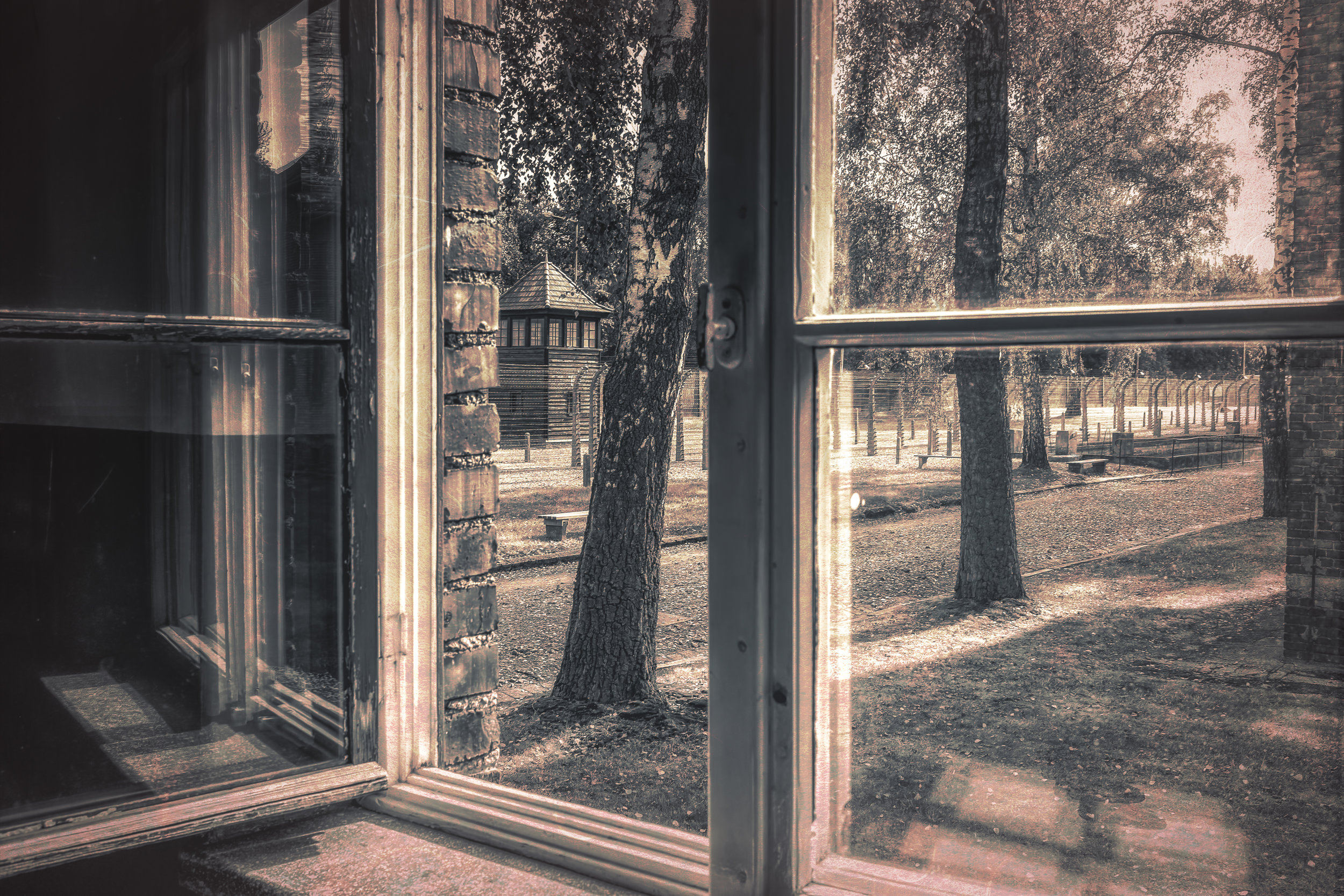 Through the Open Window - Auschwitz I Concentration Camp - Fujifilm X100T, 1/60 @ f/8.0, ISO200, 23mm. See the poem Through the Open Window in the Poetry Section.
