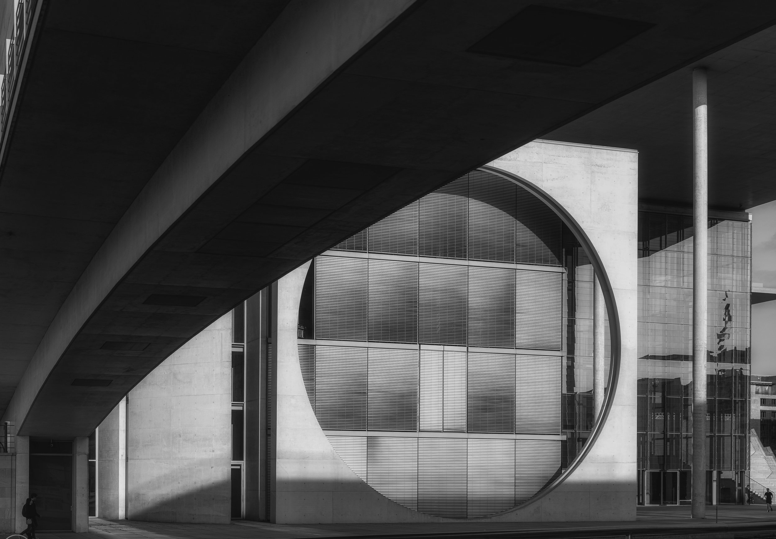 Marie-Elisabeth-Luders-Haus - Nikon D750, 1/160 @ f/10, ISO 125, 48mm. Spectacular modern architecture in the city of Berlin. This building sits along the river and is part of the government complex.
