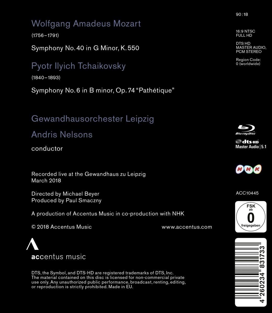 Mozart Symphony No  40 and Tchaikovsky Symphony No  6 — HDVDARTS