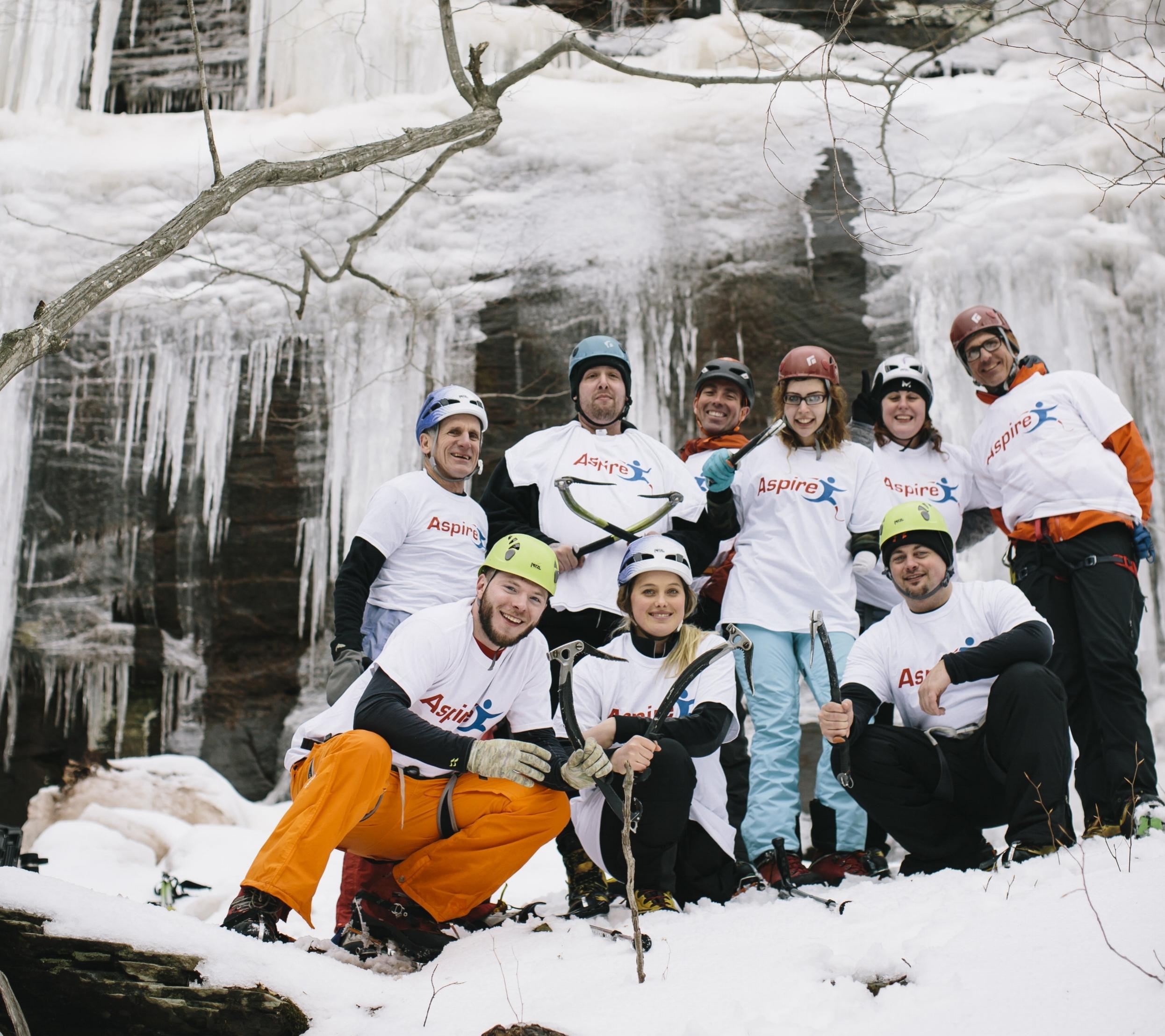 Ice Climbing in the Catskills -