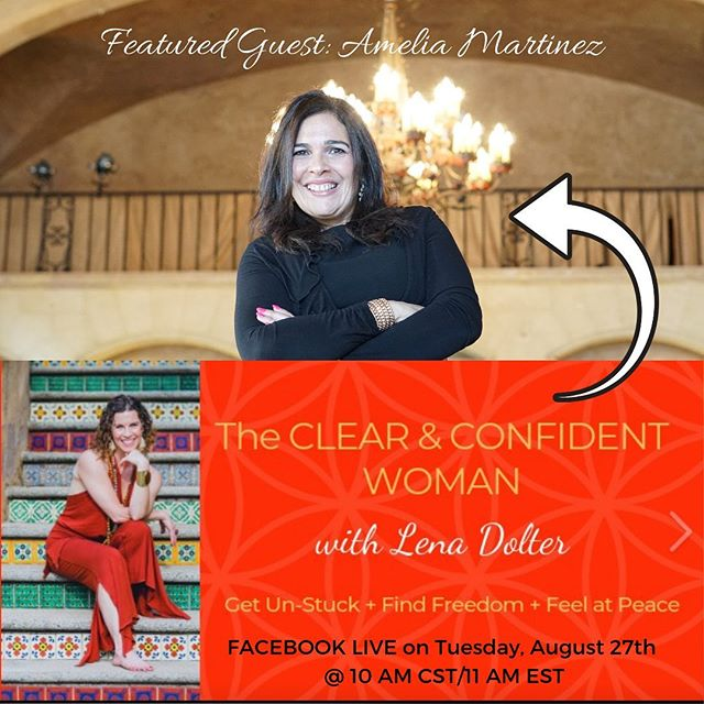 JOIN US!  I've accepted the invitation from my friend Lena Dolter to join her in a Facebook live on Tuesday, August 27th at 10 AM CST/11 AM EST where we'll be talking about how to destress yourself and make a quantum leap into the achievement of your goals this year and going forward. ⠀⠀⠀⠀⠀⠀⠀⠀⠀ Lena helps driven women break free from the soul-sucking grind! ⠀⠀⠀⠀⠀⠀⠀⠀⠀ So if you want to get out of your head and tap into your intuition, join us for our LIVE pop-up conversation. ⠀⠀⠀⠀⠀⠀⠀⠀⠀ Let's face it, no matter how successful you are, there are times you feel stuck in stress. ⠀⠀⠀⠀⠀⠀⠀⠀⠀ When this happens, you can't move ahead, easily and effortlessly. ⠀⠀⠀⠀⠀⠀⠀⠀⠀ Please join Lena and me for what is SURE to be an enriching conversation that will absolutely inspire you to feel confident, clear, and centered to move forward toward your dreams. ⠀⠀⠀⠀⠀⠀⠀⠀⠀ Lena created The Clear and Confident Woman to bring women together for this very purpose~ to share, inspire, and create positive change forward for one, and for all! ⠀⠀⠀⠀⠀⠀⠀⠀⠀ This is what you will surely learn in our conversation: ⠀⠀⠀⠀⠀⠀⠀⠀⠀ -  What is the stress you are feeling all about -  When to move from protection to ease mode -  How to refocus confidently in the direction of your goals - ⠀⠀⠀⠀⠀⠀⠀⠀⠀ This pop-up talk will only be available to you inside the Clear and Confident Woman FB community, so join us there. ⠀⠀⠀⠀⠀⠀⠀⠀⠀ TAG YOUR FRIENDS AND LET'S MAKE A VIRTUAL PARTY. #millionairemindset #entrepreneur #entrepreneurlife #girlboss #womenentrepreneurs #womeninbusiness #millionaire #businesscoach #transformationexpert #innerpeace #womensupportingwomen #businesswoman #womenempowerment #gratitude #destress #betterthingstodo #relaxation #mmlafleur #shoulderup #wiselatina #makeithappen #femaleentreprenur #believeinyourself #attitudegratitude #choosehappiness #mindfulness #trusttheprocess #stressfree #innerpeace #happiness