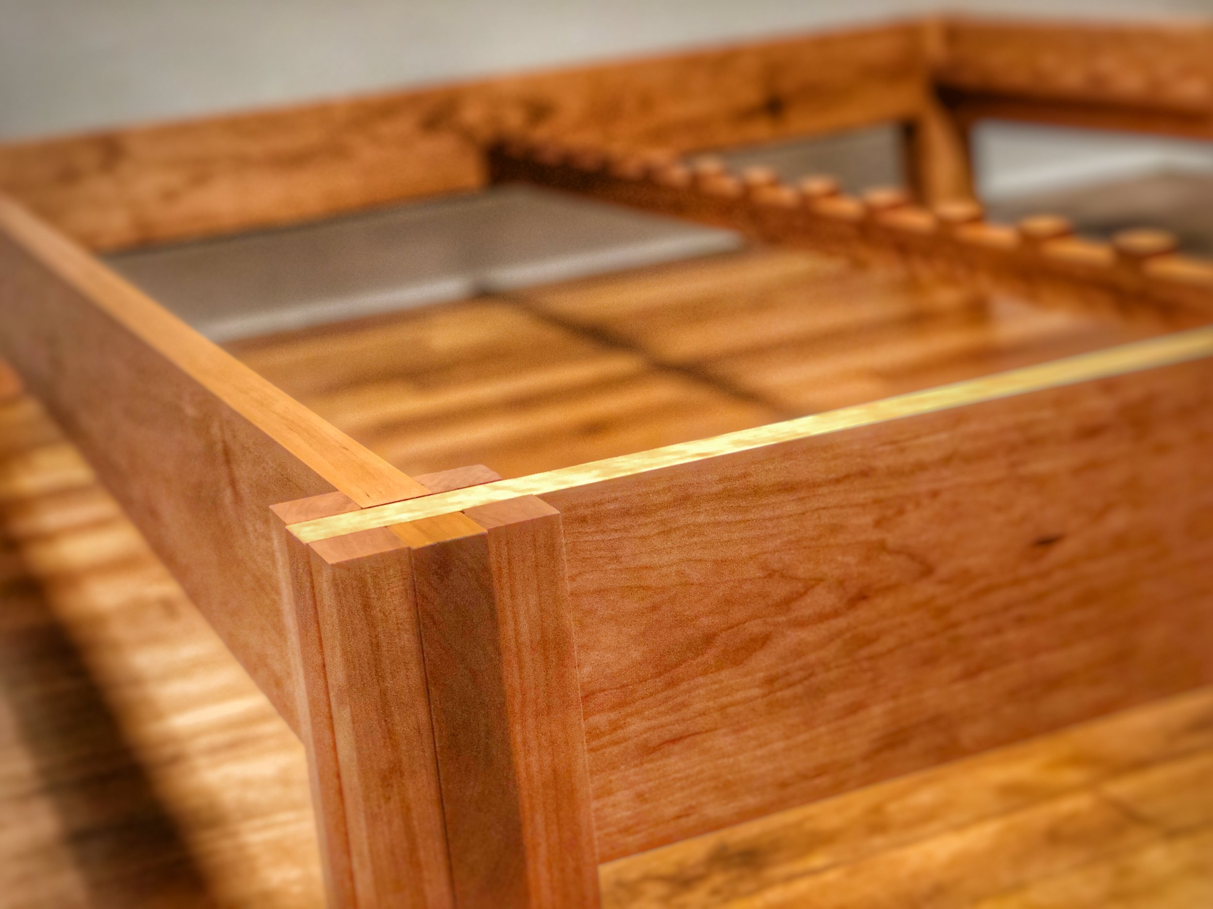 Cherry Queen Bed Frame