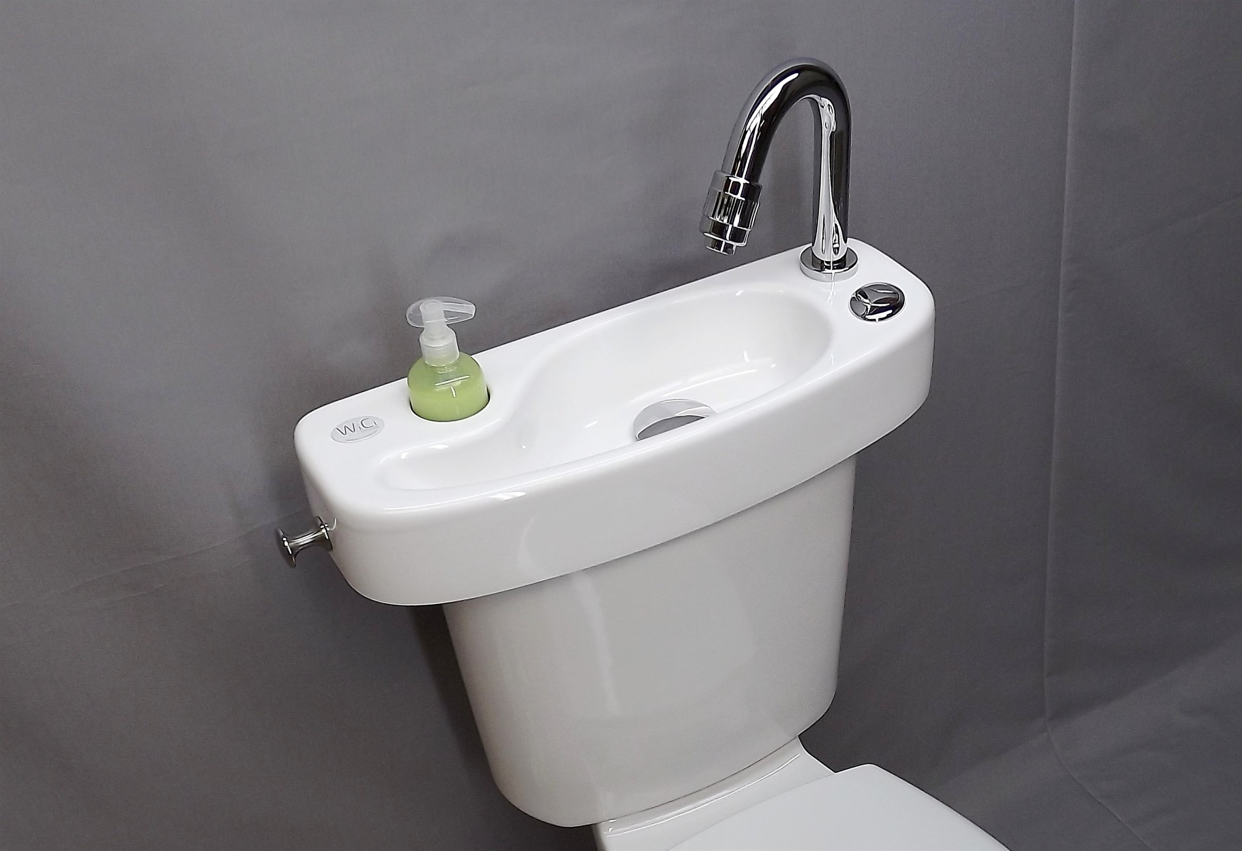 WiCi- the water used for washing hands will be used by the next person to flush the toilet, and so on.