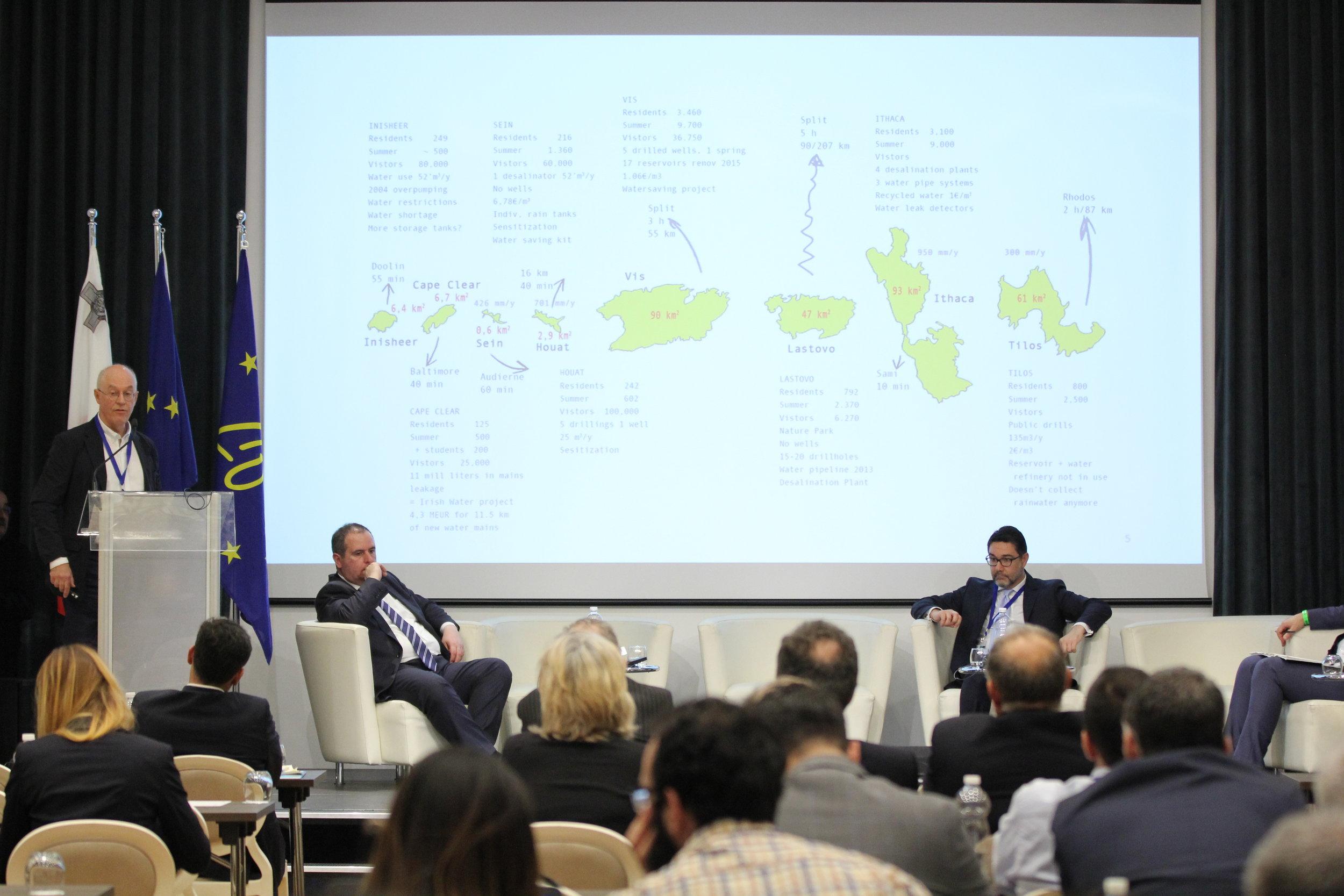 The 8 WASAC islands presented on Malta