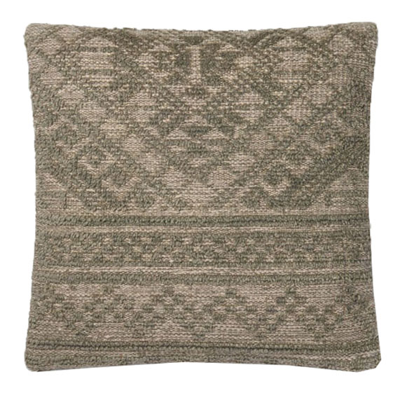 Green Cotton & Wool Pillow | Scout & Nimble