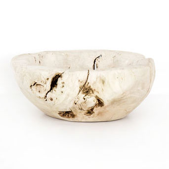 Reclaimed Wood Bowl, Ivory | Scout & Nimble