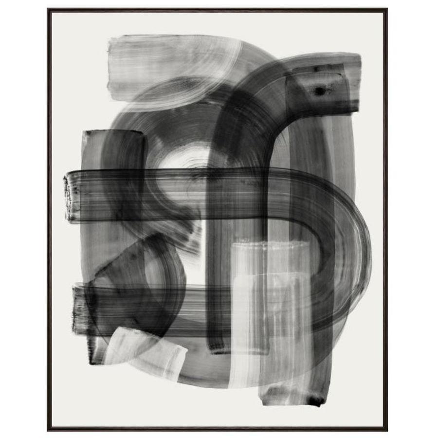Black Strokes I Framed Canvas Artwork