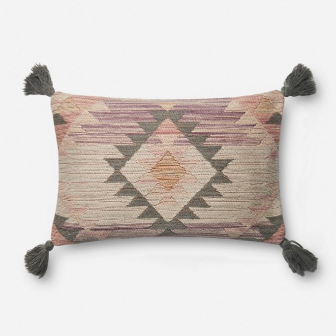 P0646 Pink / Multi 12 X 21 Pillow