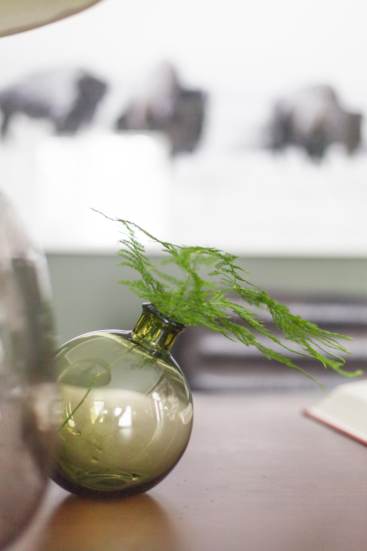 SHOP THE LOOK      Olive Sphere Vase