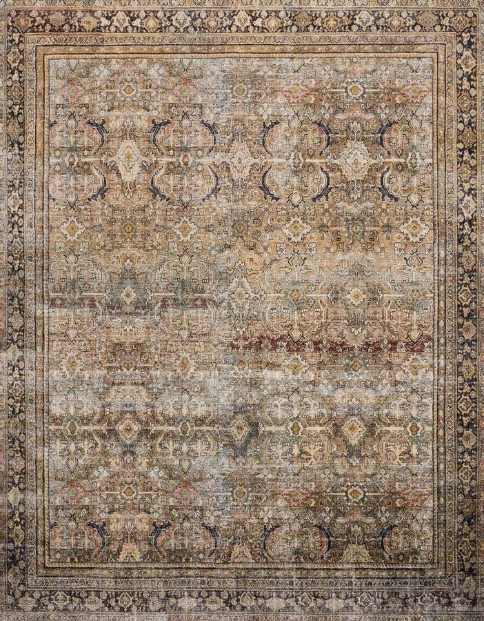 LAYLA RUG IN OLIVE/CHARCOAL