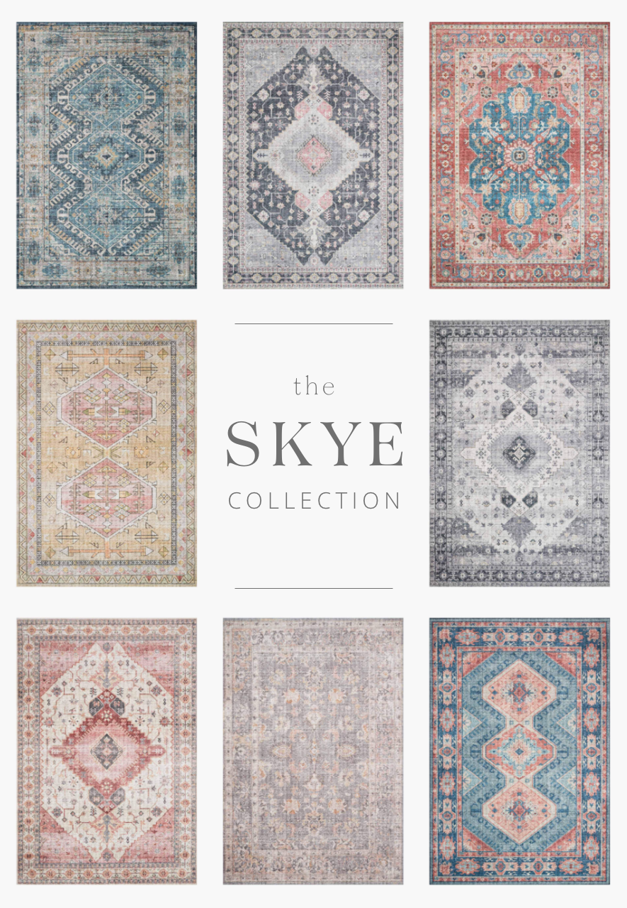 The Skye Collection is timeless and classic with a beautiful, old-world design in a variety of color choices. Power-loomed in China of 100% polyester, these printed designs provide the textured effect of high-end rugs at an affordable price.
