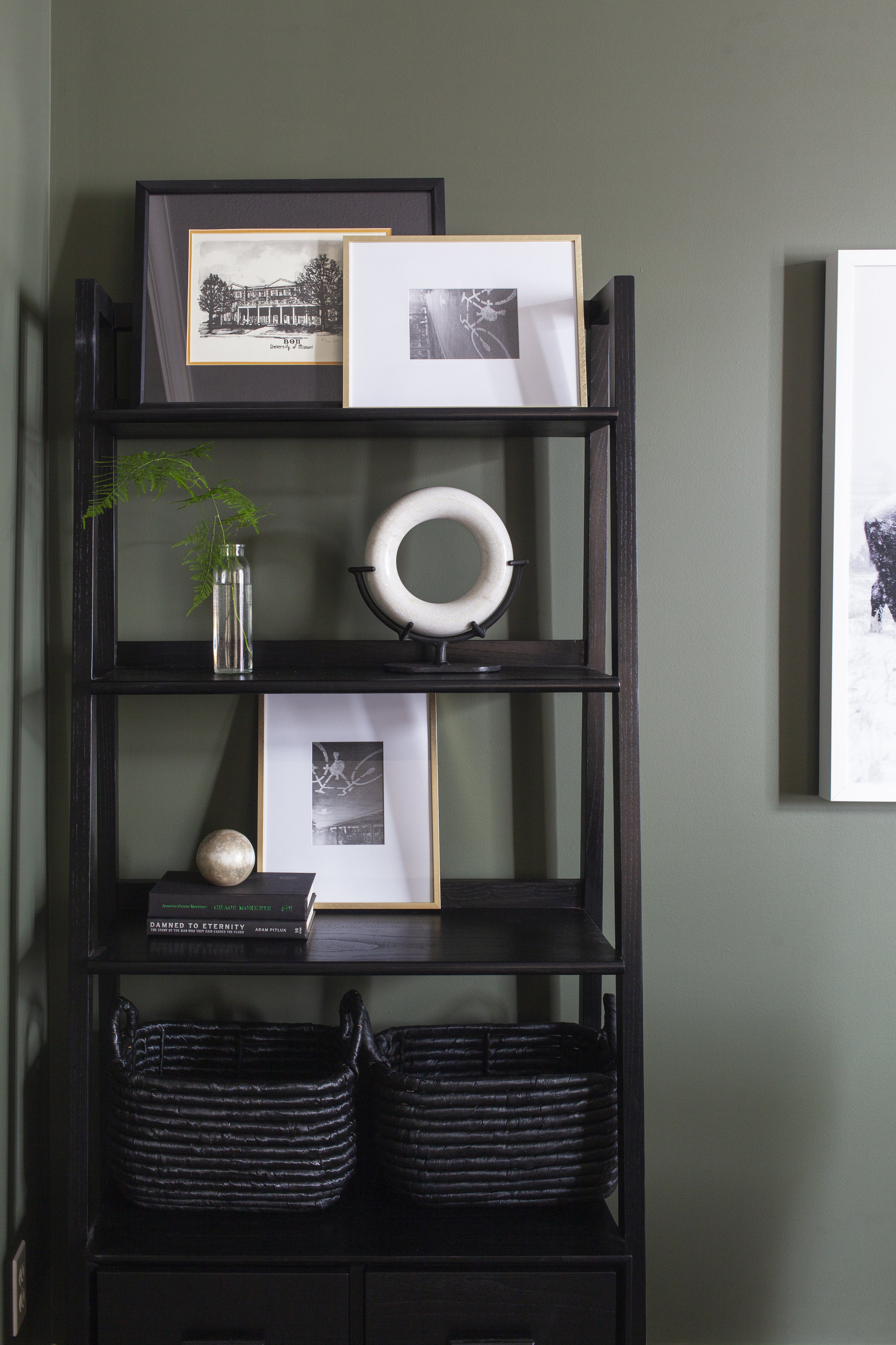 SHOP THE LOOK        Johnson Bookcase ,  Marble Ring