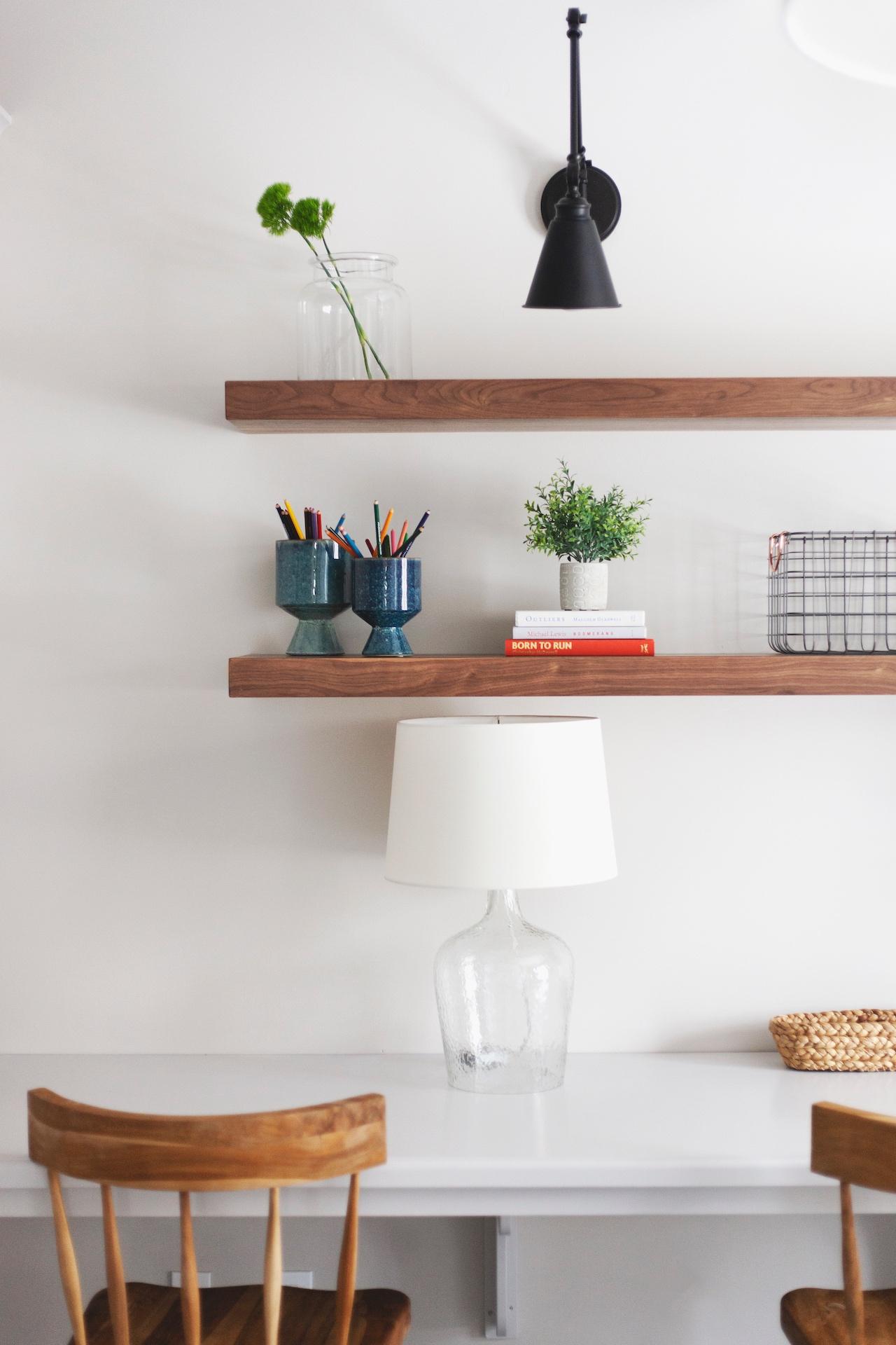 SHOP THE LOOK   |   Esme Chair ,  Berkeley Pots ,  Medium French Mason Jar ,  Morland Adjustable Sconce