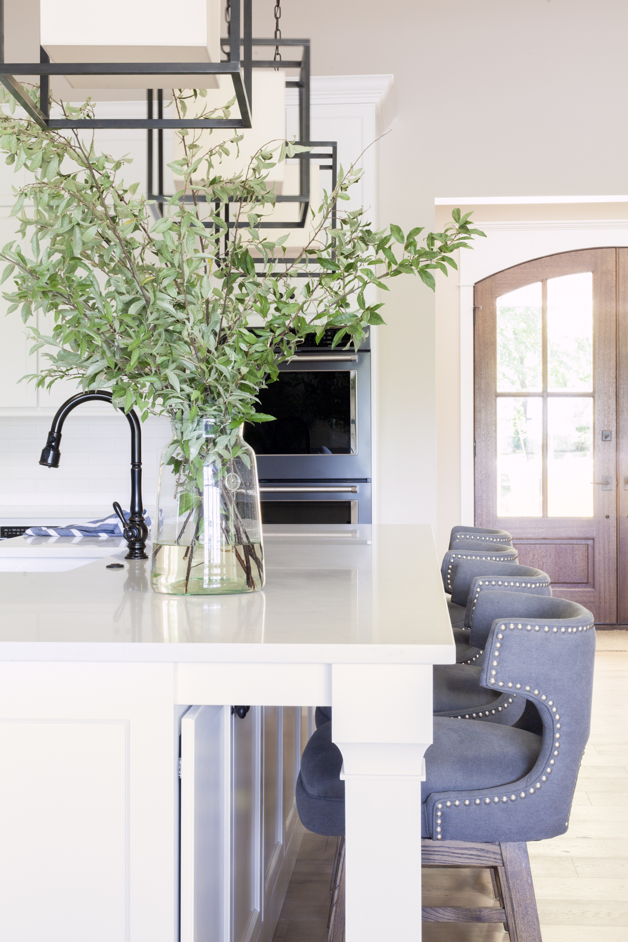 SHOP THE LOOK:   Large French Mason Jar ,  Task Counter Stools